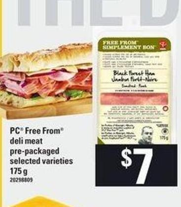 PC Free From Deli Meat - 175 Gpre-packagedselected Varieties