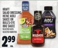 Kraft Salad Dressing - Heinz Aioli Sauce Or Bull's-eye Bbq Sauce