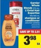 Garnier Whole Blends - 370 mL - L'oréal Hair Expertise - 180/385 mL Shampoo Or Conditioner