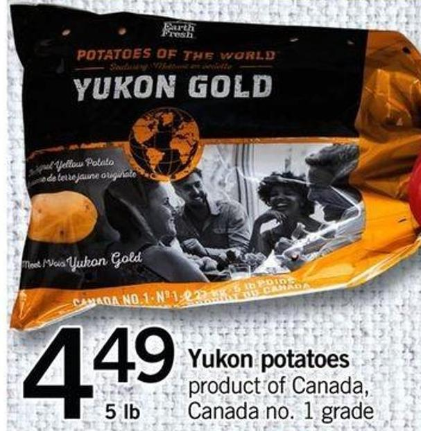 Yukon Potatoes - 5 Lb