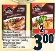 Club House Gravy Or Yorkshire Pudding Mix