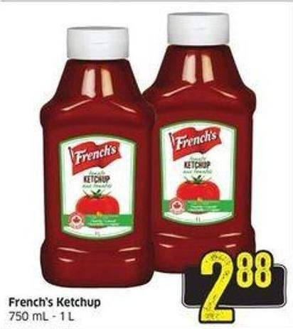 French's Ketchup 750 mL - 1 L