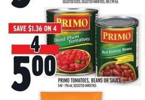 Primo Tomatoes - Beans or Sauce