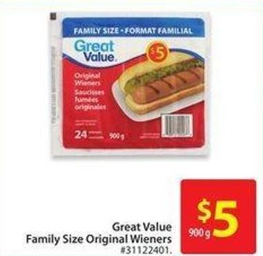 Great Value Family Size Original Wieners