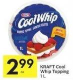 Kraft Cool Whip Topping 1 L