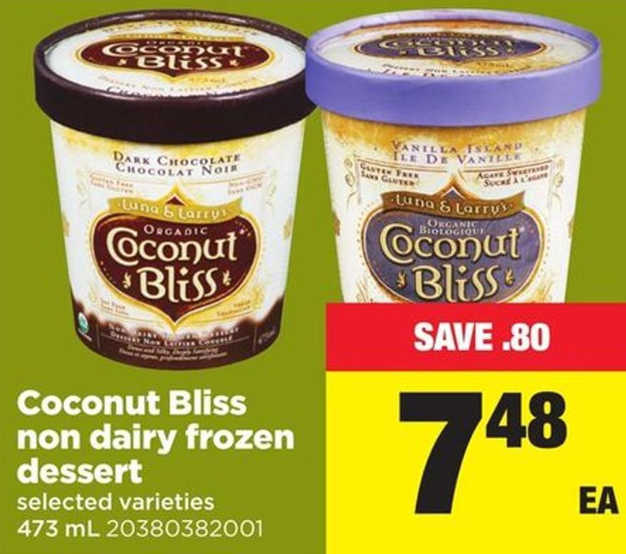 Coconut Bliss Non Dairy Frozen Dessert - 473 mL