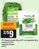 PC Organics Salads 142 G Or PC Cut Vegetables 340 G