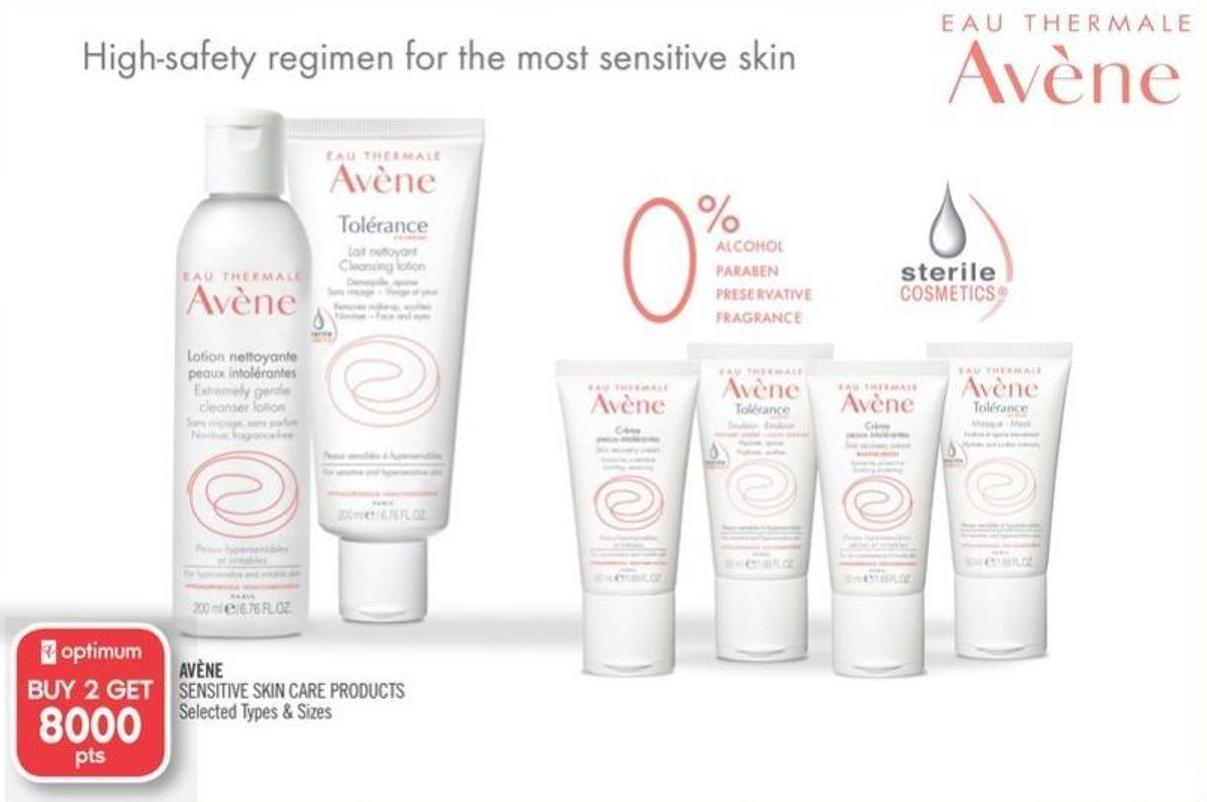 Avène Sensitive Skin Care Products