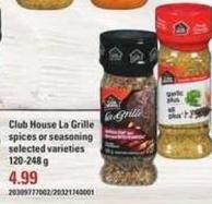 Club House La Grille Spices Or Seasoning - 120-248 g