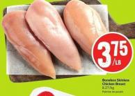 Boneless Skinless Chicken Breast 8.27/kg