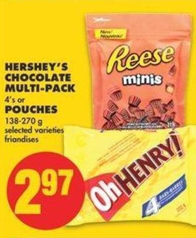 Hershey's Chocolate Multi-pack - 4's Or Pouches - 138-270 G
