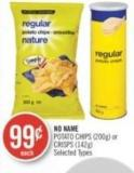 No Name Potato Chips (200g) or Crisps (142g)