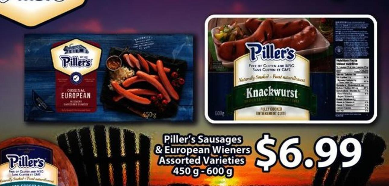 Piller's Sausages & European Wieners Assorted Varieties