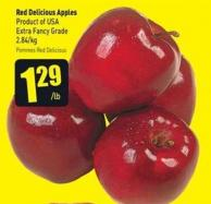 Red Delicious Apples Product of USA Extra Fancy Grade .84/kg