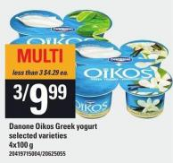 Danone Oikos Greek Yogurt.4x100 g