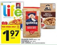 Quaker Oats Or Oatmeal Or Life Cereal