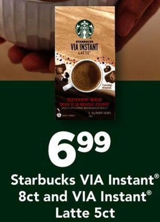 Starbucks Via Instant 8ct And Via Instant Latte 5ct
