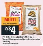 PC Kettle Cooked - Loads Of - Thick Cut Or World Of Flavours Potato Chips