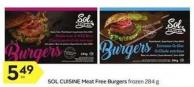 Sol Cuisine Meat Free Burgers