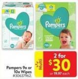 Pampers 9x or 10x Wipes