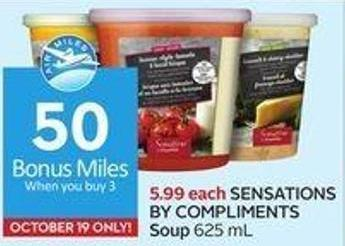 Sensations By Compliments Soup 625 mL - 50 Air Miles