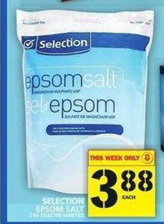 Selection Epsom Salt
