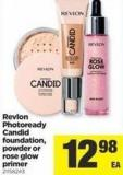 Revlon Photoready Candid Foundation - Powder Or Rose Glow Primer