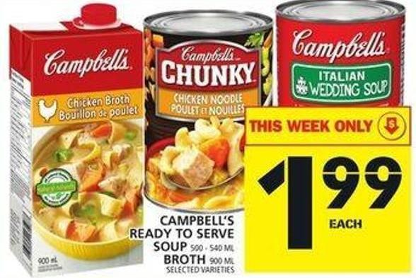 Campbell's Ready To Serve Soup Or Broth