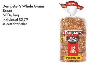 Dempster's Whole Grains Bread 600g Bag