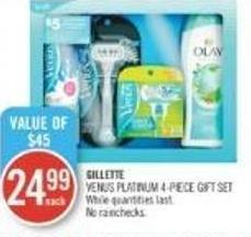 Gillette Venus Platinum 4-piece Gift Set
