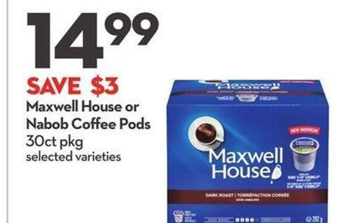 Maxwell House or Nabob Coffee Pods