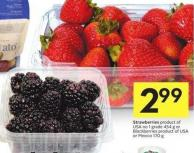 Strawberries Product of USA No 1 Grade 454 g or Blackberries Product of USA or Mexico 170 g