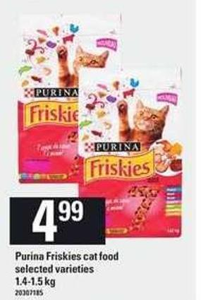 Purina Friskies Cat Food - 1.4-1.5 Kg
