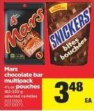 Mars Chocolate Bar Multipack - 4's or Pouches - 162-230 g
