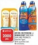 Aveeno - Neutrogena or Banana Boat Twin Pack Sun Care Products