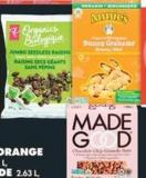 Annie's Snacks - 115-213 g Or Made Good Bars - 96-132 g Or PC Organics Jumbo Raisin Snack Pack - 196 g