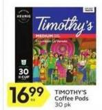 Timothy's Coffee Pods