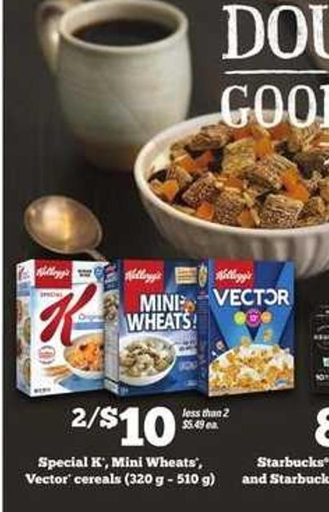 Special K - Mini Wheats - Vector Cereals
