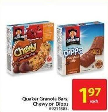 Quaker Granola Bars - Chewy - or Dipps