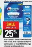 Oral-b Vitality Power Toothbrush And Refill Heads - Oral-b 500 Series Power Toothbrushes Or Crest 3D Whitestrips