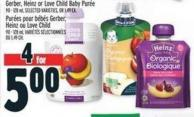 Gerber - Heinz Or Love Child Baby Purée 90 - 128 ml