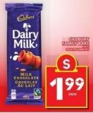 Cadbury Family Bars