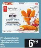 PC Fully Cooked Chicken Burgers - Nuggets Or Strips - 800 g