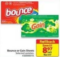 Bounce or Gain Sheets