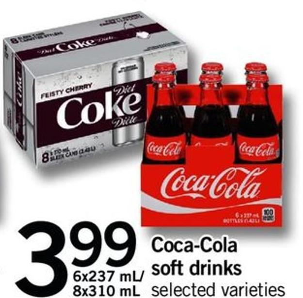 Coca-cola Soft Drinks - 6x237 Ml/ 8x310 Ml