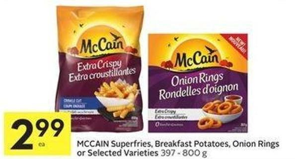 Mccain Superfries - Smiles or Onion Rings