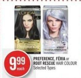 Preference - Féria or Root Rescue Hair Colour