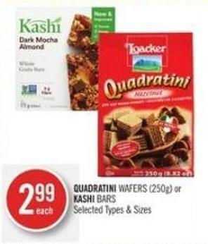 Quadratini Wafers (250g) or Kashi Bars