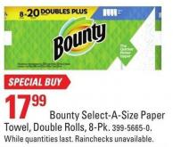 Bounty Select-a-size Paper Towel - Double Rolls - 8-pk