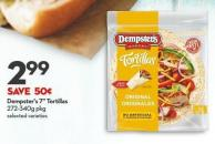 Dempster's 7in Tortillas  272-340g Pkg